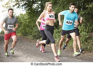 Fast people at the marathon