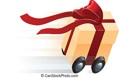 Fast Present Gift on Wheels Concept - A very fast gift...