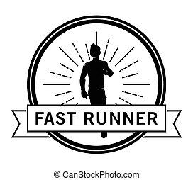 Fast runner : Runner label badge