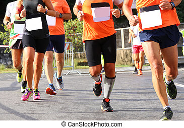 Fast runners during the marathon