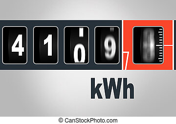 Fast running electricity meter - power consumption concept