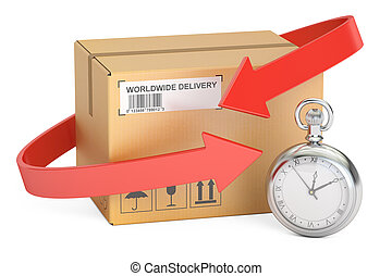 fast shipping and delivery concept, 3D rendering isolated on...