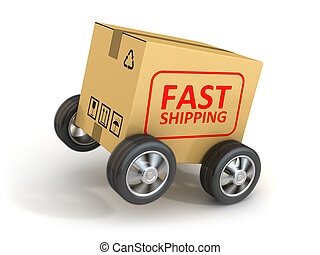 Fast Shipping Cardboard , This is a 3d rendered computer...