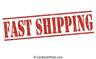 Fast shipping stamp - Fast shipping grunge rubber stamp on...