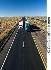 Fast shipping - Truck on Arizona I-40 interstate