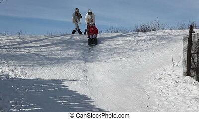 Fast sledge ride