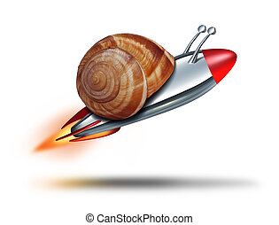 Fast Snail - Fast snail speed concept with a mullosk shell...