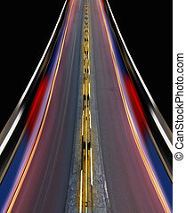 fast-speed, autostrada, di, città