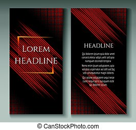 Fast speed lines motion brochure template