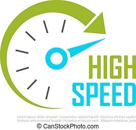 Fast speed logo