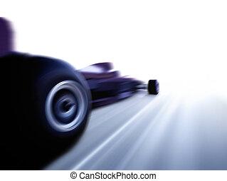 fast - speeding formula 1 car