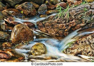 Fast Stream - Tonto Creek in North East Arizona Mountains