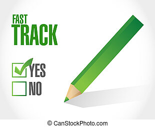 fast track approval sign concept