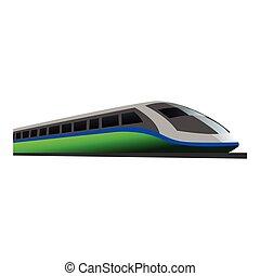 fast train illustration design