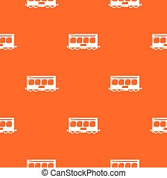 Fast train pattern vector orange
