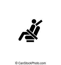 Fasten Seat Belt Flat Vector Icon