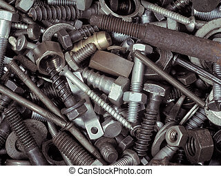 Fasteners - An assortment of bolts, screws, nuts, washers...