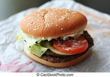 fastfood, ハンバーガー