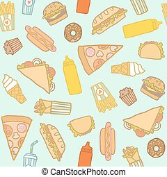 fastfood, pattern.