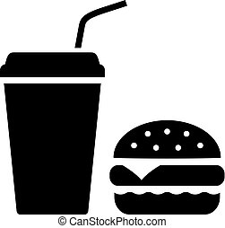 fastfood, vector, pictogram