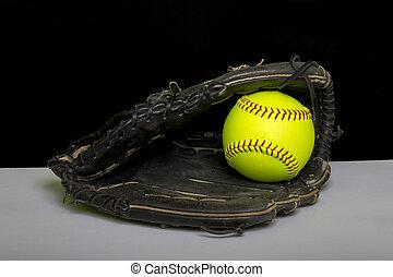 fastpitch, manopola, softball, esterni