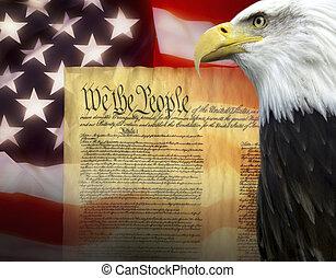 fastslår, -, foren, patriotisme, amerika