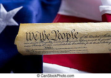 fastslår, foren, scroll, amerika, forfatning