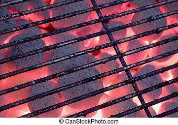 faszén, grill