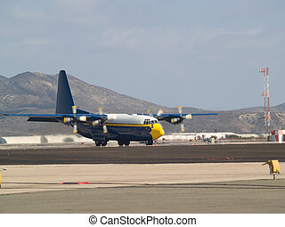 Fat Albert plane ready to taxi