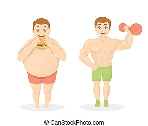 Fat and fit men.