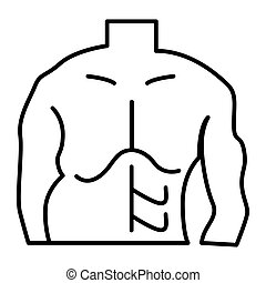 Fat and slim man thin line icon. Before and after weight loss man body vector illustration isolated on white. Male body losing weight outline style design, designed for web and app. Eps 10.