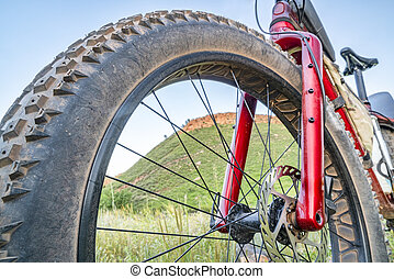 fat bike at foothills of Colorado