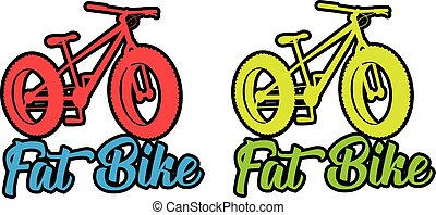 Fat bike fluo vector design sticker illustration