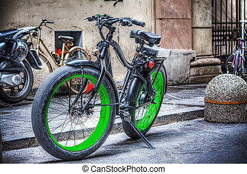fat bike parked in Florence