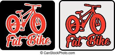 Fat bike vector design sticker