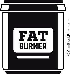Fat burner icon, simple style - Fat burner icon. Simple...
