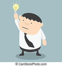 Fat businessman get idea