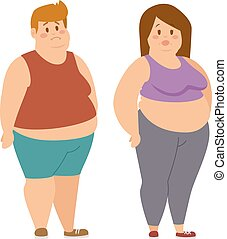 Fat cartoon people
