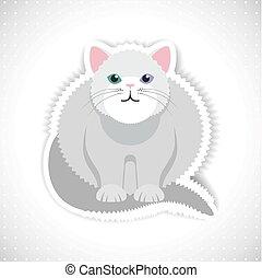 Fat cat, vector illustration