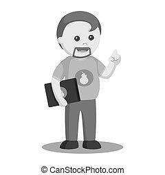 Happy Computer Geek — Stock Vector © totallyjamie #72502047