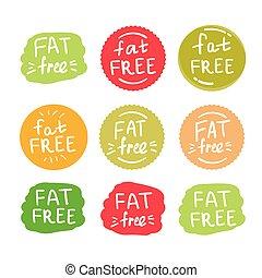 fat free logos set