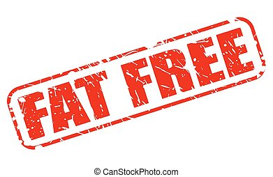 Fat free red stamp text