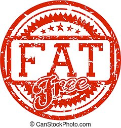 fat free rubber stamp