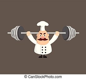 Fat Funny Chef - Doing Weight Lifting
