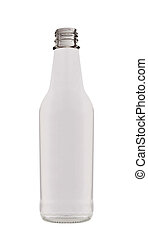 Fat Glass Bottle isolated on white background