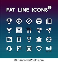 Fat Line Icons set 3