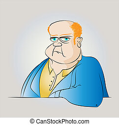 Fat Man in a Suit Vector