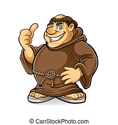 Fat Monk - fat monk smiling and thumbs-up