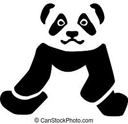 Fat Panda sitting