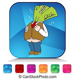Fat Paycheck Mosaic Crystal Button Set